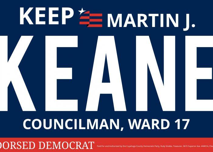 36x20 Martin J. Keane Councilman, Ward 17-002